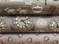 Lewis and Irene 'Britannia' Collection 100% Cotton fabric Fat Quarter, Half o...