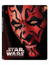 STAR WARS : THE PHANTOM MENACE  (STEELBOOK) -  Blu Ray - Sealed Region free