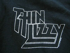THIN LIZZY Concert Gig Tour VINTAGE T-Shirt POLO Size LARGE Sleeve Print