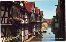 Postcard The Weavers and River Stour Canterbury