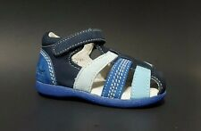 Brand New $70 KICKERS Baby Boys LEATHER Sandals Fashion Blue Size 3 USA/18 EURO