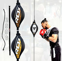 RDX Leather Double End Dodge Speed Ball Boxing Floor To Ceiling Punching Bag MMA