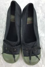 Chinese Laundry Wash Olive Green/Black Sneaker Wedge Slip On Size 9M