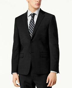 Calvin Klein Men's Skinny-Fit Infinite Stretch Black Suit Jacket 40S