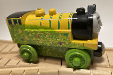 Thomas Wooden Railway Train Set Sea Soaked Victor 2003 HTF Yellow Green Engine
