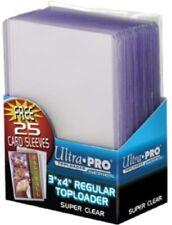 "UltraPro 3"" X 4"" Regular Toploader With Soft Sleeves - 1 pack = 25 toploaders"