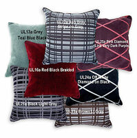 UL Red Grey Brown Ash Checker Cotton Blend Cushion Cover/Pillow Case Custom Size