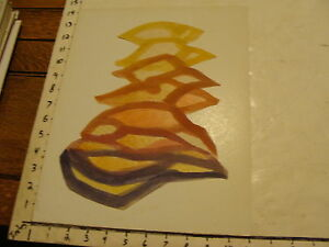 """Original ROSE SUSLOVICH ART: mounted CUT-OUT--"""" A STACK OF PILLOWS """""""