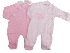 Pyjamas roses en velours pour fille de 0 à 24 mois