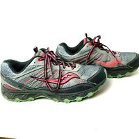 Saucony Eclipse TR2 Sneaker Womens walking running jogging shoes sz 11 gray pink