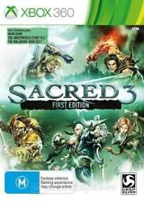 Xbox 360 Sacred 3 First Edition includes Underworld Story and Malakhim Hero DLC