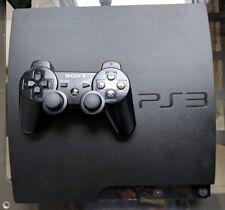 Sony PlayStation 3 Slim Launch Edition 500GB Charcoal Black Console w 12 GAMES!