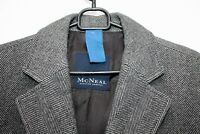 Vtg Mcneal Mens Grey Coat WOOL CASHMERE Loden Overcoat Retro TWEED EU 48 UK 38