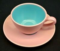 Lindt Stymeist Colorways China Cup and Saucer Rose and Turquoise