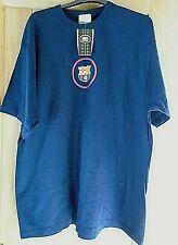 NIKE FCB MEN'S BARCELONA COTTON NAVY BLUE SHORT SLEEVE T-SHIRT SIZE XLARGE NEW!