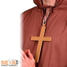 Monk Cross Necklace Medieval Fancy Dress Friar Tuck Nun Priest Costume Accessory
