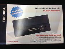 NEW Toshiba Advanced Port Replicator II PA3082U-2PRP