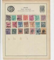 Brasil Stamps on Album Page ref R 18946