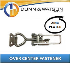 Large Zinc Plated Over Centre / Center Fastener, Latch, Catch - Trailer