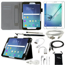 10-Item Accessory Bundle for Samsung Galaxy Tab S2 8.0 Inch - Case and Chargers