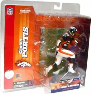 Clinton Portis Denver Broncos NFL McFarlane Action Figure Debut NIB Series 7
