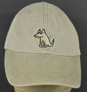 Beige It's a dog's life Embroidered Baseball Hat Cap Adjustable Leather Strap
