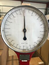 British Made Vintage Industrial Heavy Red Lollipop Floor Scales 0-152kg