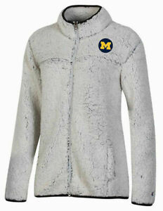 NCAA Champion Michigan Wolverines Ladies Sherpa Full-Zip Jacket Various Sizes