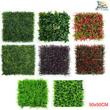 Artificial Green Wall Hedge Panel Tile Garden Event Privacy Screening 50 x 50cm