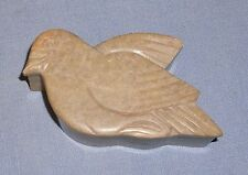 Carved Stone Bird Dove Trinket Box Container