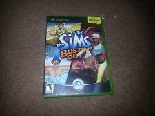 X BOX GAME WITH ORIGINAL BOX THE SIMS BUSTIN OUT