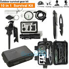 Survival Kit 10 IN 1 Emergency Tactical Defense Equipment Outdoor Camping Tools