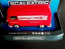 1/32 Scalextric C3755 VW Bus Panel Van T1b' Porsche Servicio de Carrera'