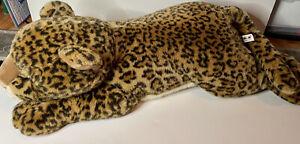 "Aurora Super Flopsies Large Plush Leopard ""Luther""  Rare 28"""