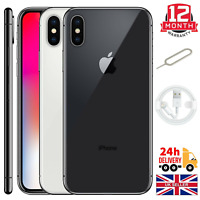 Apple iPhone X (iPhone 10) 64GB 256GB Unlocked Sim Space Grey/Silver Smartphones
