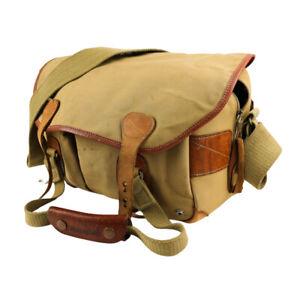 Billingham 305 Camera Bag - Khaki Canvas/Tan Leather Trim - in Good condition