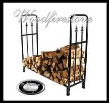 WOODFIRESTOVE Wood Rack / Firewood holder / Black Steel Log Rack / Wood Holder