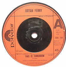 """BRYAN FERRY - This Is Tomorrow - Excellent Condition 7"""" Single Polydor 2001 704"""
