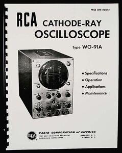 RCA WO-91A Cathode-Ray Oscilloscope Manual
