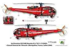 [FFSMC Productions] Decals 1/72  Alouette III Sécurité Civile et CODIS 34