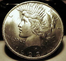 1923 PEACE SILVER RARE GEM MS++ Beauty!! Add to your PEACE SET!  LOOK! SILVER!