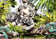 """Jigsaw Puzzle 1000 Pieces """"White tiger family"""""""