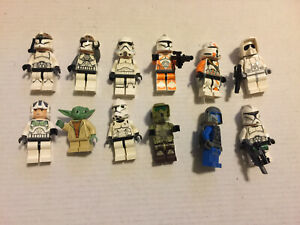 Genuine LEGO Minifig lot of 10 Star Wars trooper etc  Free shipping    a5