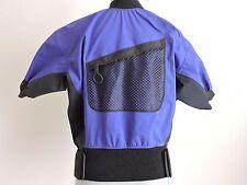 Rapidstyle Kayak Paddling Shirt Top Front Pocket Nylon Neoprene Small S Purple