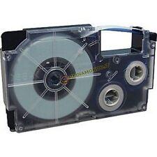NASTRO COMPATIBILE CASIO XR-18WE1 - NERO SU BIANCO - 18mm X 8mt