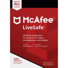 McAfee LiveSafe 2020 Dispositivi Illimitati 1 Anno Licenza ESD