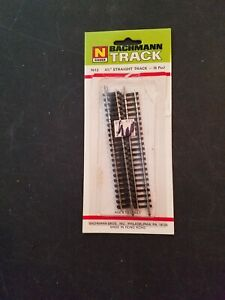 VINTAGE BACHMANN N SCALE STRAIGHT TRACK  # 7612  3 Pc. 4 1/2  in.