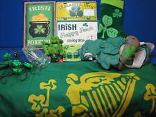 New listing Irish Lot Erin Go Bragh Flag Banner Sign Ireland Shamrocks St Patricks day pins