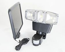 Ultra Bright COB LED Triple Head Solar Powered Motion Sensor Security Light