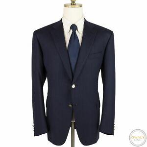LNWOT CURRENT Brioni Blue Ventiquattro S150's Wool H-Bone Emblem Btns Suit 46R